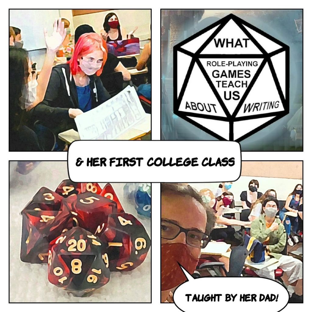 Dungeons and Drafting, her first class