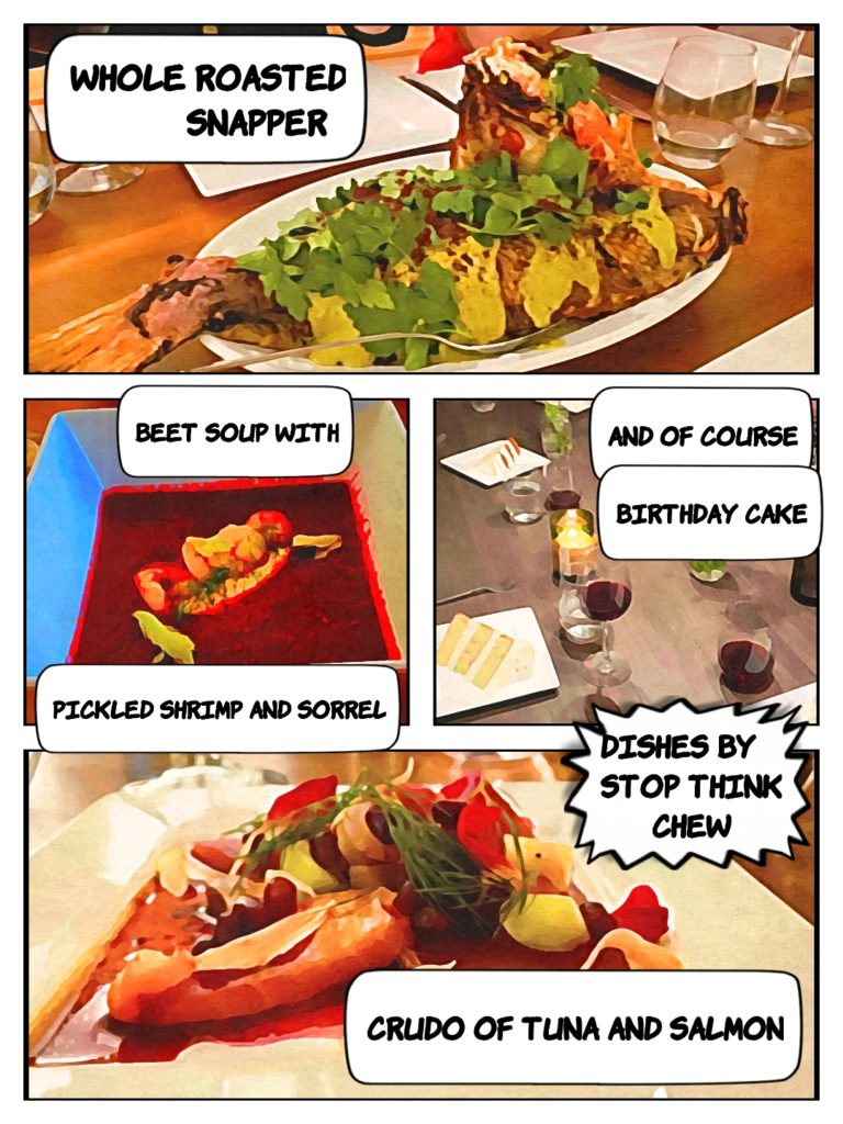 A selection of dishes from the big bday!